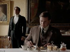 SPOILERS: Downton Abbey Christmas Special: Class war: Thomas didn't much care for waiting on Branson, the former chauffeur, who, in turn, didn't much care for Thomas not caring for it...