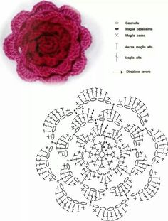 crochet flower flor