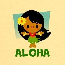 Kawaii Hula Girl designed by Jerrod Maruyama. Hawaiian Girls, Hawaiian Art, Kawaii Chibi, Kawaii Anime, Illustration Arte, Hula Dancers, Cute Cartoon Drawings, Hula Girl, All Things Cute