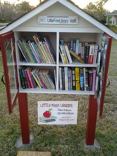 Little Free Library. I'm hoping to build one soon.