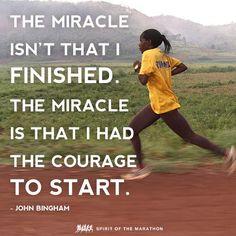 John Bingham quote | Spirit of the Marathon.