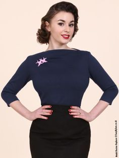Vivien of Holloway - Slash Neck Top...and all the cute things