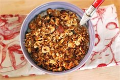Hazelnut & Cocoa Nib Granola | The Naptime Chef