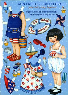 RESERVED FOR AUDREY Uncut Paper Doll by Mary Engelbreit Ann Estelle's Friend Gracie Summer Fun