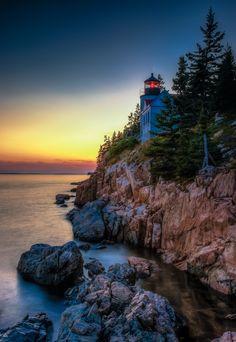 Bass Harbor Head lighthouse,Acadia National Park,Maine