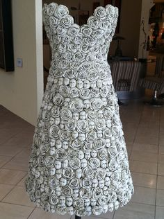 Ceramic Faces and Flowers dress . . . ♥