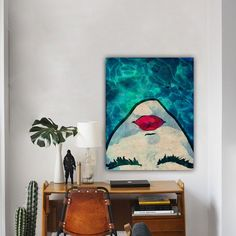 It's a trend that's been slowly building momentum over the past year – big + bold statement art.
