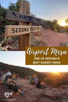 Hiking Sedona's Airport Mesa at Sunset | This is one of the best sunset hikes in Sedona (Arizona USA), and a super easy one. Gorgeous photos that will convince you to take this hike, parking information, & more. Hike the Airport Vortex summit for the best Sedona sunset views. Arizona hiking ideas, best Sedona hikes. #sedona #arizona #sunset #hiking Arizona Road Trip, Arizona Travel, Arizona Usa, Sedona Arizona, Travel Advice, Travel Tips, Travel Ideas, Travel Destinations, Solo Travel