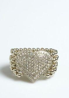 Pave Heart Beaded Bracelet | Bracelets | rue21