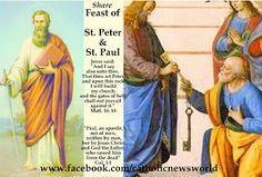 PIN IT - Official Prayer for Solemnity of St. Peter and St. Paul - Plenary Indulgence http://jceworld.blogspot.ca/2014/06/share-official-prayer-for-solemnity-of.html