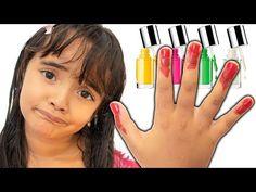 BIA LOBO / NAIL POLISH / BRINCA DE PINTAR AS UNHAS - YouTube Vlog, Childcare, Baby Food Recipes, Youtube, Highlights, Toenails Painted, Crossstitch, Gourmet, Recipes For Baby Food