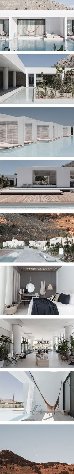 Casa Cook: a paradise in Rhodes, Greece by Editor on Nuji Exterior Design, Interior And Exterior, Villas, Architecture Design, Casa Cook, Mediterranean Style, Beach Hotels, Relax, The Great Outdoors