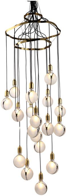 Modern Crystal Bulbs Chandelier - HK Phoenix Lighting