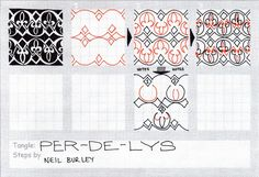 zentangle aqua pattern how to draw | this pattern is adapted from a persian stucco border pattern they did ...