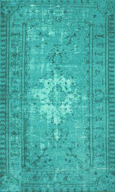 nuLOOM Remade Overdyed Turquoise Chroma Overdyed Style Rug | AllModern