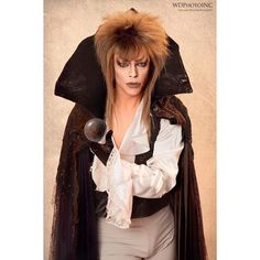 Morgan McMichaels paying tribute to the legendary David Bowie in Labyrinth Drag Race Season 2, Morgan Mcmichaels, Drag King, Drag Makeup, Rupaul, David Bowie, Amazing Women, All Star, Bell Sleeve Top
