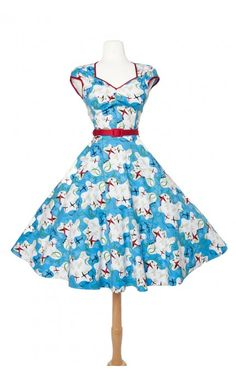Heidi Dress in Mary Blair Planes Print