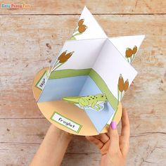 Frog Life Cycle Craft - Easy Peasy and Fun Frog Crafts, Crafts To Do, Easy Crafts, Hot Air Balloon Craft For Kids, Life Cycle Craft, Lifecycle Of A Frog, Frog Life, Balloon Crafts, Fun Activities To Do