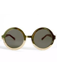 Karen Walker Eyewear in olive green