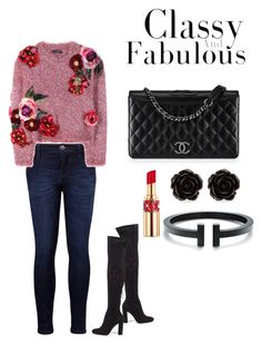 """Classy and Fabulous"" by manon-bdm on Polyvore featuring mode, Steve Madden, Levi's, Dolce&Gabbana, Chanel, Yves Saint Laurent et Erica Lyons"