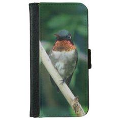 Hummingbird, iPhone Wallet Case. iPhone 6 Wallet Case
