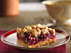 Need to try Cranberry Crumb Bars.