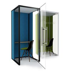 Spacio Lite Phone Booths offer single users an acoustic haven in the office for private calls.