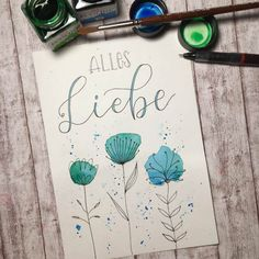 Letter Lovers: madi_yellow_freak as guest - . Letter lovers: madi_yellow_freak as a guest – Flower Crafts, Diy Flowers, Paper Flowers, Bouquet Flowers, Vintage Flowers, Watercolor Cards, Watercolor Flowers, Drawing Flowers, Painting Flowers