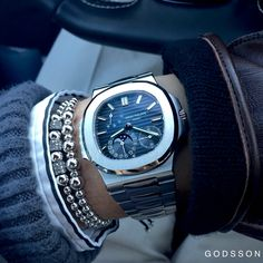 Patek Philippe x Godsson Bracelets Available in the… Dream Watches, Luxury Watches, Cool Watches, Patek Philippe, Bracelets For Men, Fashion Bracelets, Automatic Watches For Men, Beautiful Watches, Bracelets