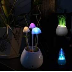 Clover Mushrooms Christmas Tree LED Dimming Night Light 7 Colors Changing Light Control Home Decor