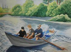 Goin Fishin on the Wynoochee by Carol Schmauder   Flootie.com