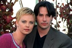 Actress Charlize Theron with Keanu Reeves at a photocall in London today to promote their new thriller The Devil's Advocate in which they play a. Keanu Reeves, Keanu Charles Reeves, Charlize Theron, The Devil's Own, The Devil's Advocate, Matrix, Celebs, Celebrities, American Actors