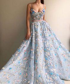 kleider Gorgeous Light Blue Long Embroidery Princess Prom Dresses For Teens,Modest Quinceanera Dresses,Beautiful Fashion Evening Dresses Floral Prom Dresses, Princess Prom Dresses, Prom Dresses For Teens, Cheap Prom Dresses, Quinceanera Dresses, Pretty Dresses, Formal Dresses, Evening Dresses, Long Dresses