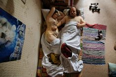 "PREGNANT COUPLE PORTRAITS - ""Jana Romanova creates a series of photographs called Waiting very touching, featuring different pictures couples sleeping with the woman pregnant."" [Not sure if they're actually asleep, but nonetheless... =) ]"