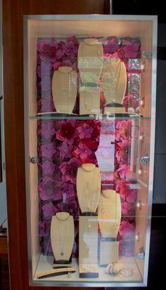 #emily #brindley Window Displays Pearls Kailis Jewellery #paper #flowers #diy #window #displays #wedding #inspiration #bride