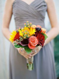 Rich fall hues: http://www.stylemepretty.com/texas-weddings/dallas/2015/05/15/dallas-fall-garden-wedding/ | Photography: Charla Storey - http://www.charlastorey.com/