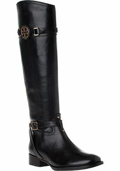 983a7f1081e449 Tory Burch - Calista Riding Boot Black Leather. Everytime I wear these