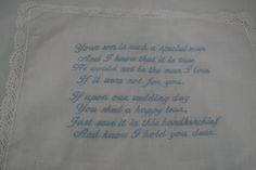 How to machine embroidery stitch on a hanky from Annthegran.com