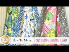 When making a bubble quilt, most people fill the bubbles as they go. This video shows you a way to make the quilt, and then fill the bubbles at the end. Quilt Baby, Rag Quilt, Patch Quilt, Self Binding Baby Blanket, Baby Blanket Tutorial, Bubble Quilt, Quilting Tutorials, Sewing Tutorials, Sewing Projects