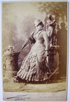 Vintage Cabinet Card  A Profile Of Beauty by buttonempire on Etsy, $26.00