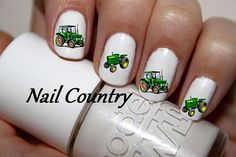 50pc Country Tractor John Deere Green Tractor Nail Decals Nail Art Nail Stickers Best Price On Etsy NC69 on Etsy, $3.99
