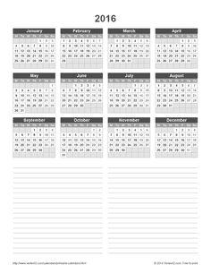 Download a free Printable 2016 Holiday Calendar from Vertex42.com ...