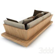 3d модели: Диваны - Bonetti kozerski - Lounge sofa