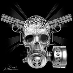 ✯ Gas Mask Skull .. By ~Hardnox757✯