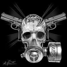 ✯ Gas Mask Skull .. By ~Hardnox757✯