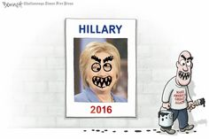 """Editorial Cartoon by lay bennett found on gocomics.com on Saturday, 2016  / Ah, we paint wit a """"broad"""" brush."""