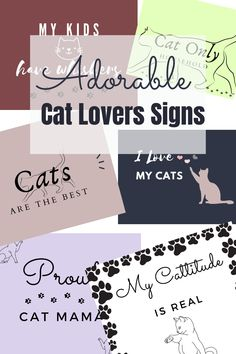 Get the best cat lovers signs from our new digital Etsy shop! Show off your love for your kitty with the best digital etsy pet signs. Download and print instantly! Affordable etsy signs. #etsy #catlovers #catsigns #digitalsigns