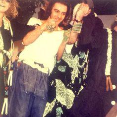John Galliano after his fashion show  Autumn/Winter 1985-1986 ,London