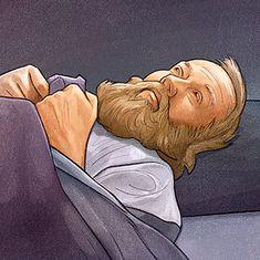 David on his sickbed