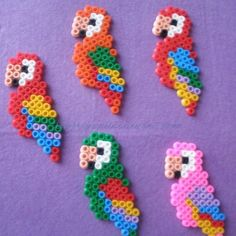 mini perler parrot pattern